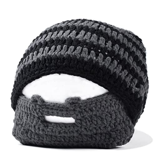 c11e3ff55ca Image Unavailable. Image not available for. Color  SODIAL(R) Handmade  Knitted Crochet Beard Hat Bicycle Mask Ski Cap roman knight octopus
