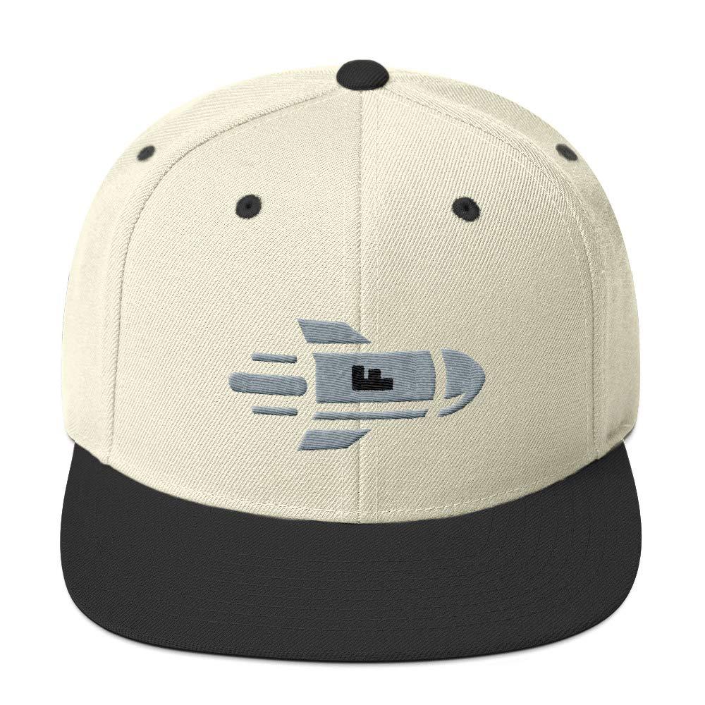 00116d5cb Just Jazzle Dropping The F Bomb Wool Blend Flat Brim Snapback Hat ...