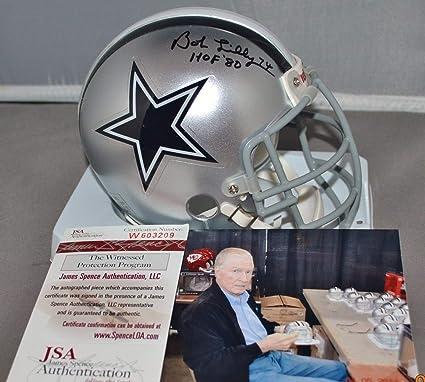 Bob Lilly Autographed Signed Custom Facemask Mini Helmet Dallas Cowboys HOF  1980 Memorabilia - JSA Authentic 4ee94e487