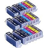インクのチップスオリジナル製品 キヤノン用 BCI-351XL+350XL/6MP 互換インク 6色 3セット+黒3本 フラストレーションフリーパッケージ FFP