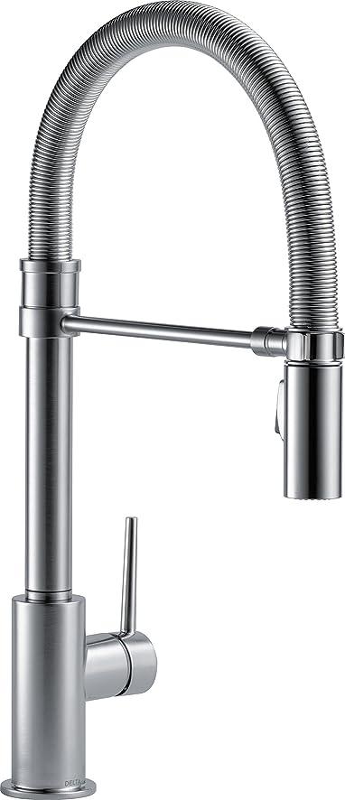 Good Delta Faucet 9659 AR DST Trinsic Pro Single Handle Pull Down Kitchen Faucet