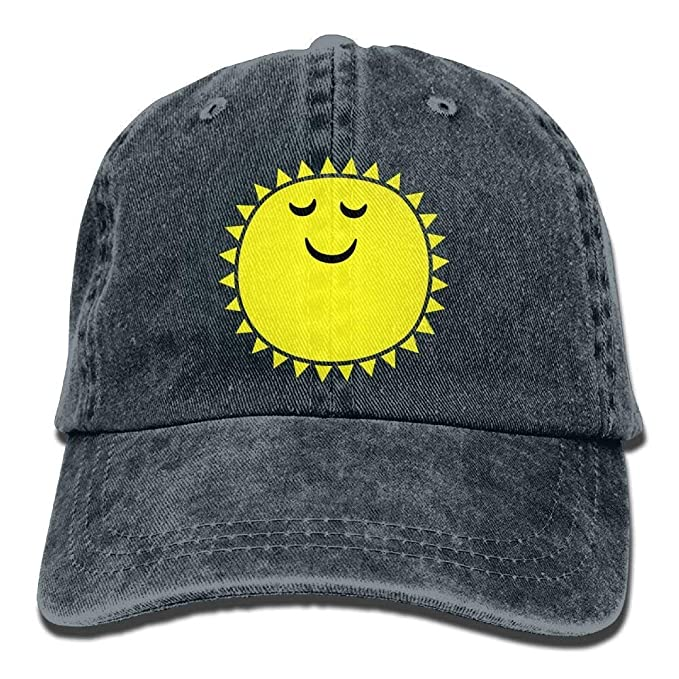 Cute Sun Symbol Denim Hat Adjustable Womens Plain Baseball Cap at ... 6098c7c98eb