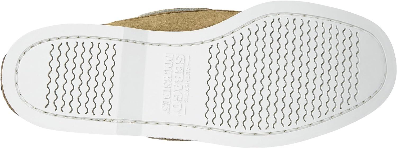 cuir velours Sebago Docksides 727-63 semelle blanche taille 48.0 beige