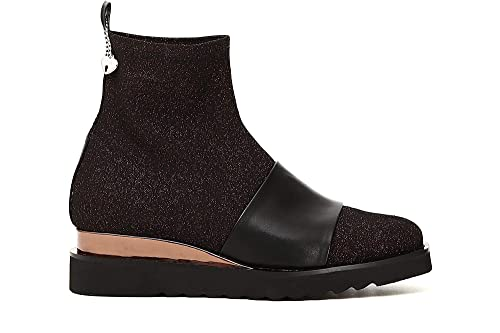 Caf Damen Stiefeletten Schwarze Ec912 Noir Schuhe Mid fyYv67gb