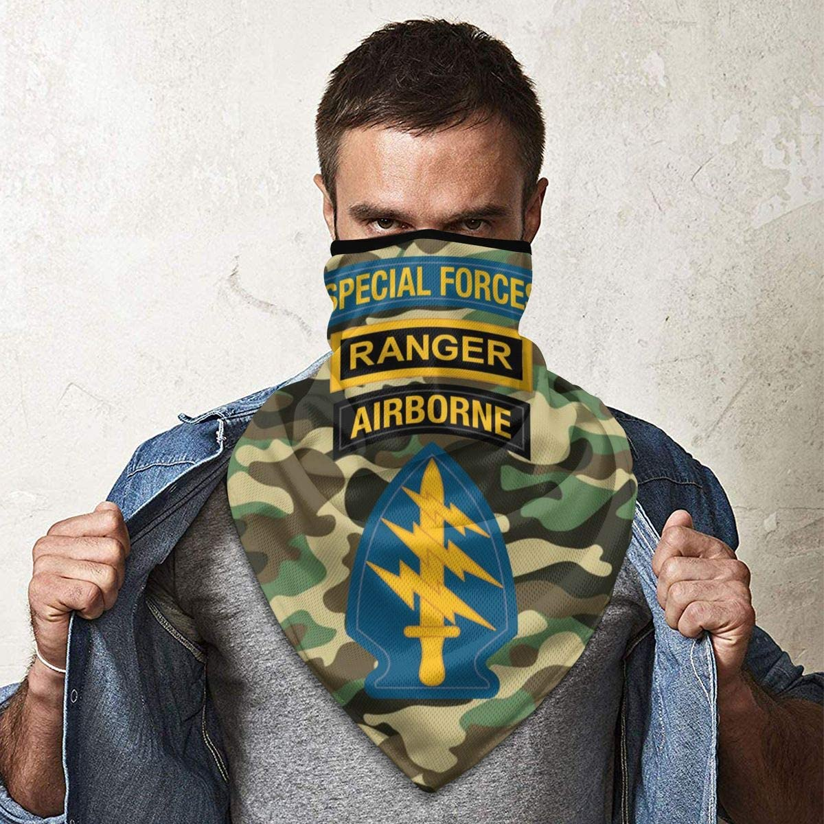 Special Forces Ranger Airborne Outdoor Face Mouth Mask Windproof Sports Mask Ski Mask Shield Scarf Bandana Men Woman
