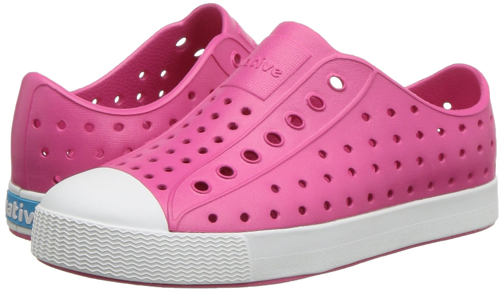 Native Kids Girls Jefferson Junior Water Proof Shoes, Hollywood Pink/Shell White, 6 Medium US Big Kid by Native Shoes (Image #6)