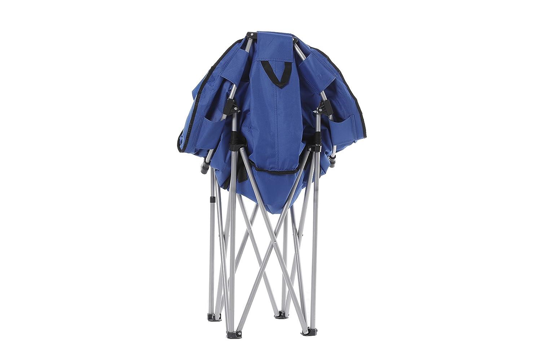 Fabulous Ecolinear Oversized Folding Faux Fur Moon Saucer Chair Blue Alphanode Cool Chair Designs And Ideas Alphanodeonline