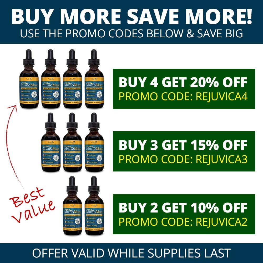MunoMax - Real Immune Support | All-Natural Liquid Formula for 2X Absorption | Elderberry, Echinacea, Turmeric & More! by Rejuvica Health (Image #3)