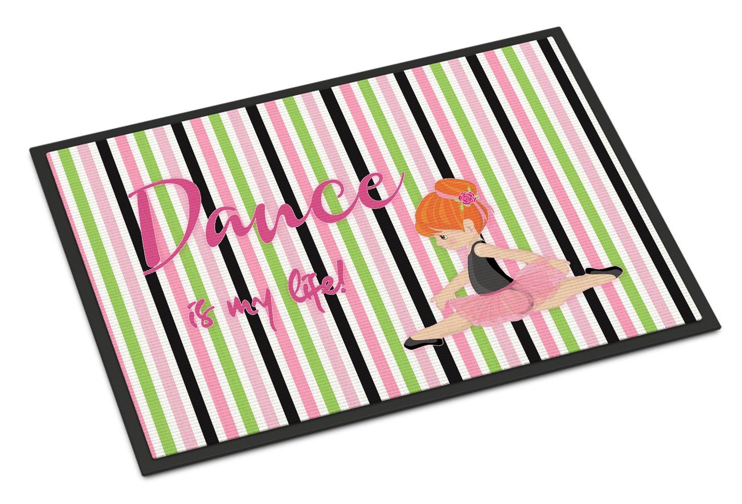Caroline's Treasures Ballet Dance is my Life Red Doormat, 24 H x 36 W'', Multicolor
