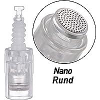 Nano Rund Nadeln Patrone Elektrische Dermapen 10 Stück Universalmodell Ersatznadeln Patrone,einstellbar Bajonett-Schlitz Für Electric Derma Pen (Nano Rund Bajonett)
