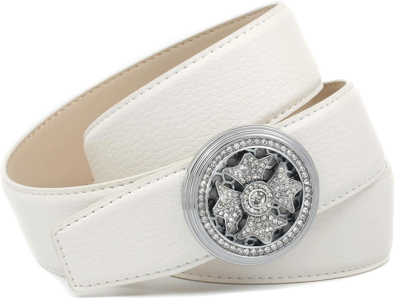 Anthoni Crown Cintur/ón para Mujer