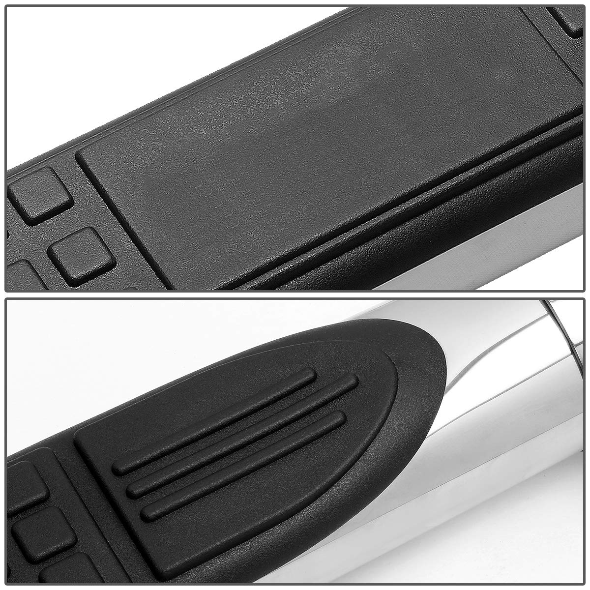 Stainless Steel 3 inches Side Step Nerf Bar Running Board (Chrome) by Auto Dynasty (Image #2)