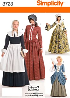 product image for Simplicity Historical Dresses Sewing Pattern Costumes for Women by Andrea Schewe, Sizes 14-16-18-20-22
