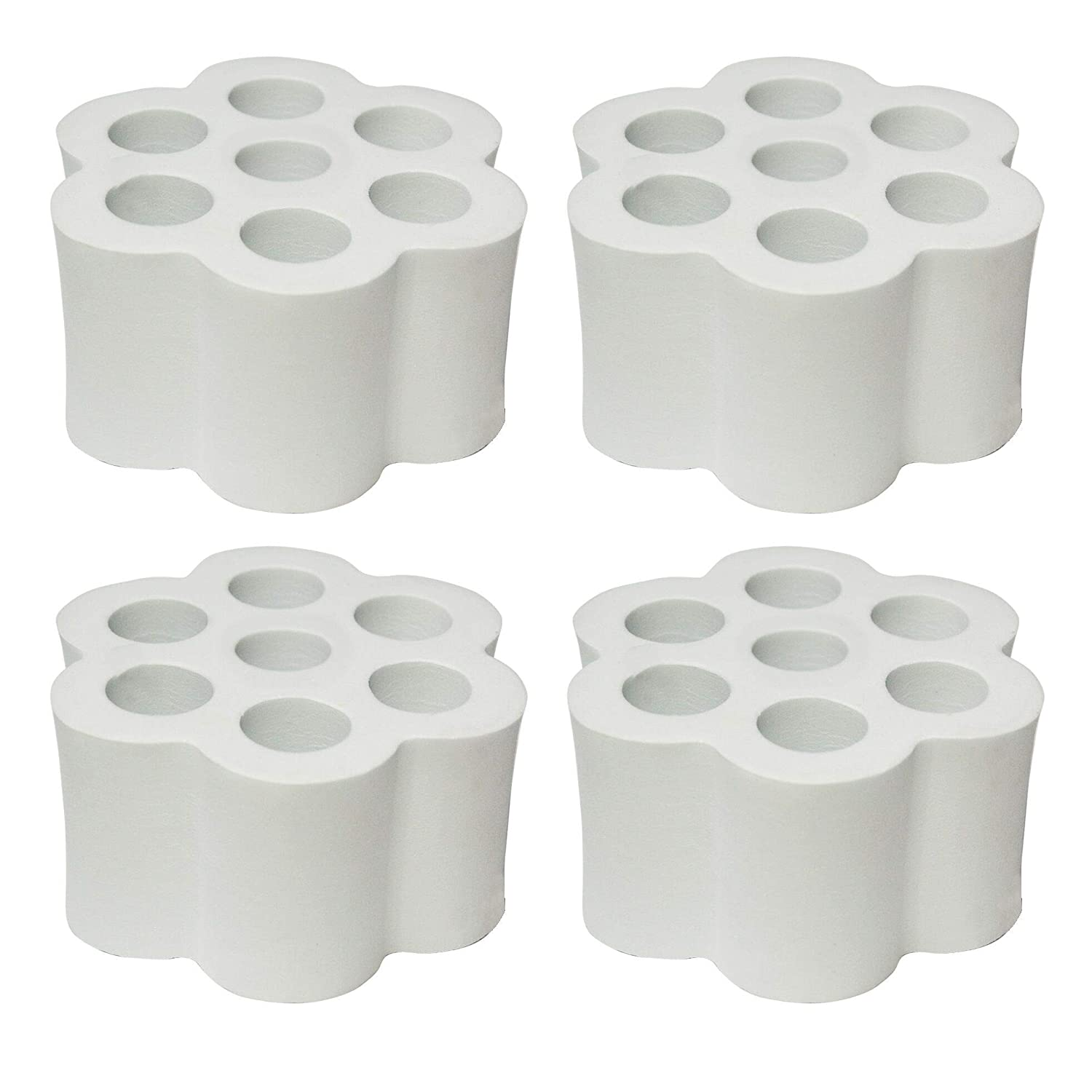 """Cup Turner Foam 4 Pieces Cup Turner Accessories fit 20 30 oz Tumbler for 1//2 /"""" PVC Pipe High Density Foam The Partner for Cup Spinner Machine 2 for 30 oz Tumbler and 2 for 20 oz Tumbler"""