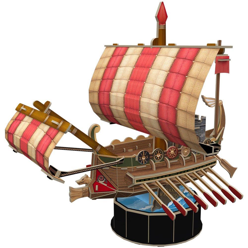 CubicFun 3D Puzzle Ship Model Roman Warship Handmade Decoration Gift, 85 Teile