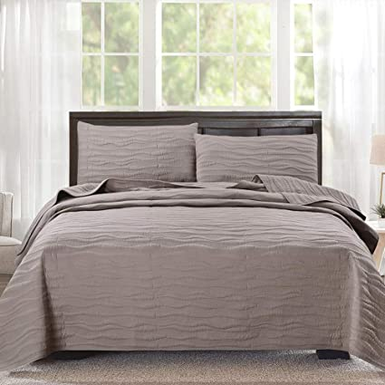 Amazon Com Quilt Bedding Set King Cal King Size 3 Piece Quilt Set
