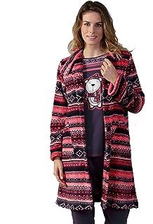 Massana - Womens pink velvet Robe Massana Soft Winter Nightwear