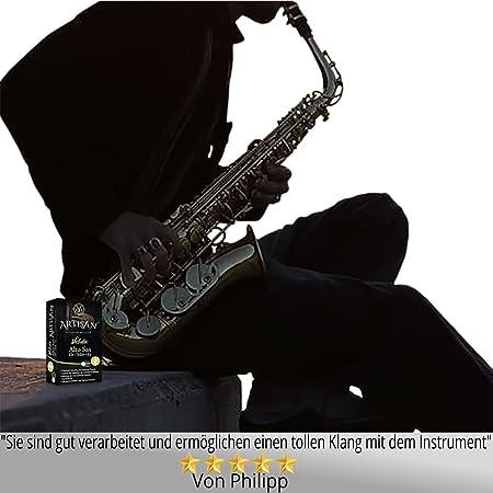Artisan Lengüeta para saxofón alto. Calidad Superior. Mi bemol. Dureza 3,0 Caja de 10. Durable, duradero, hecho con cañas del mejor grado para sonido ...