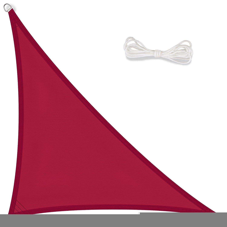 CelinaSun Sonnensegel, Sonnenschutz Garten Balkon und Terrasse PES Polyester Polyester Polyester Wetterschutz wasserabweisend imprägniert Schattenspender 1000954 Dreieck rechtwinklig 5x5x7,1 m Taupe 56da7f
