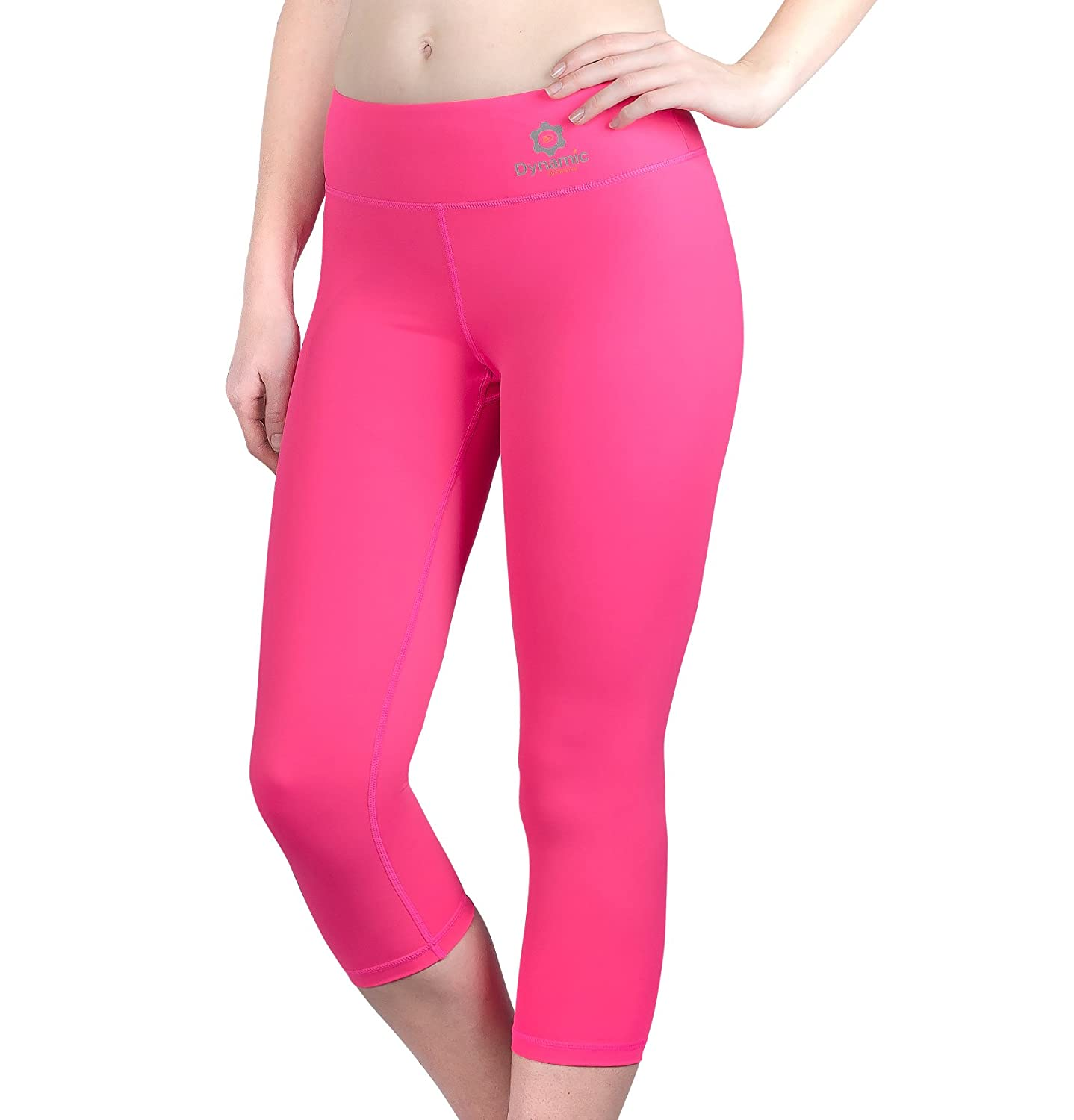 b5d09259d7 Amazon.com: Dynamic Athletica Compression Capri Leggings for Women/Slimming Yoga  Pants/Tights & Workout Clothes: Clothing