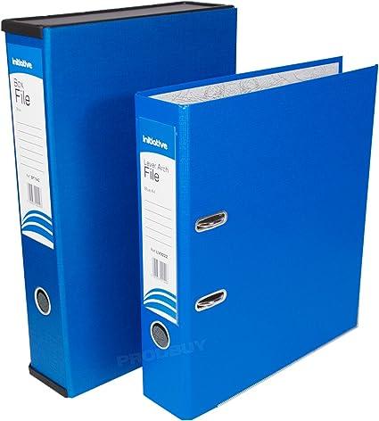 Home Office archivador de juego de archivos de almacenamiento de papel caja de archivo carpetas y archivadores de anillas (mecanismo de palanca, tamaño A4, color azul A4/Foolscap: Amazon.es: Oficina y papelería