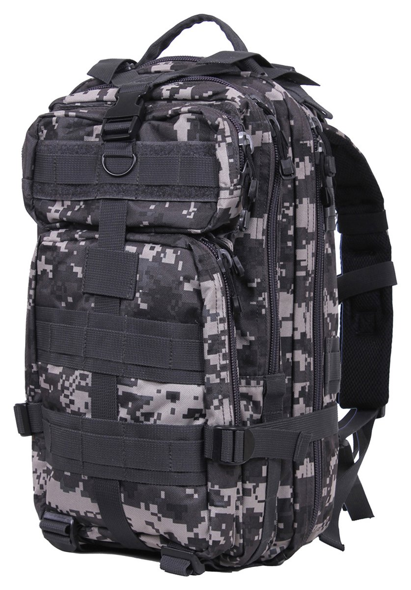 Olive Drab Military MOLLE Medium Transport Assault Pack Backpack 2584