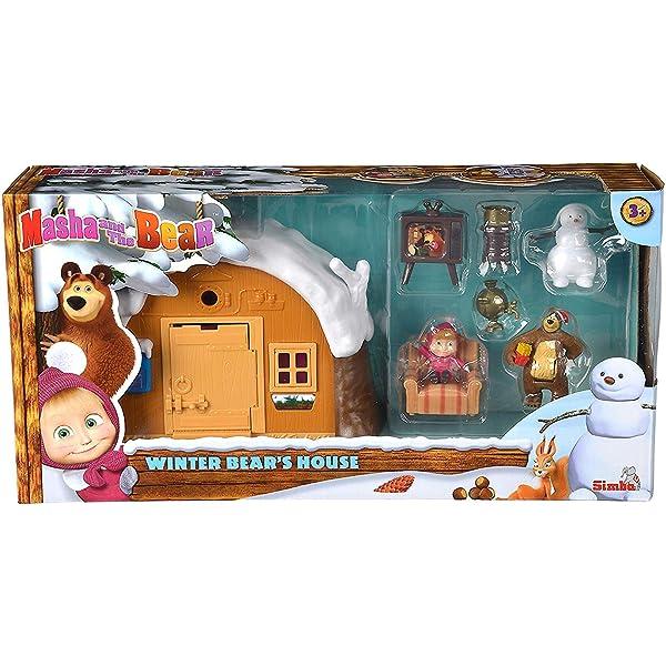Dollhouse Masha and the Bear Baby Gift Figurines Game Play Birthday Playset