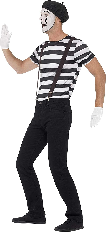 Amazon.com: Smiffys Mens Gentleman Mime Artist Costume ...