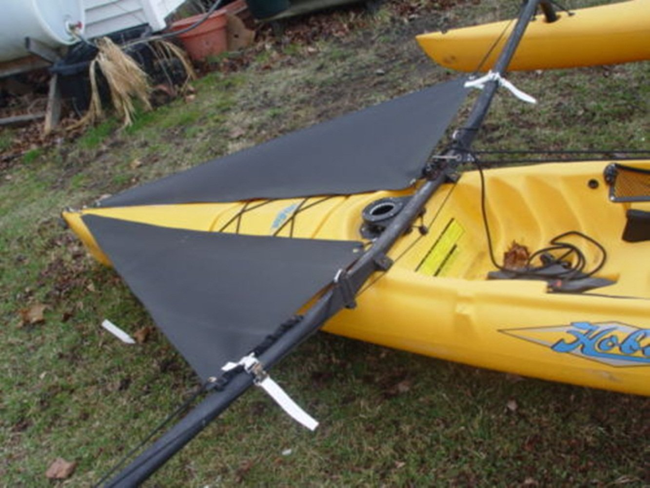 Black Spray Shield Set for Hobie Mirage Adventure Island Kayak