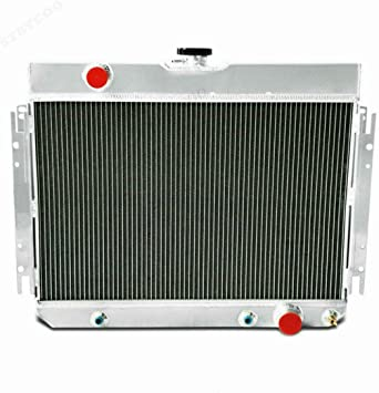 Aluminum Radiator+Shroud+Fan For CHEVY CHEVELLE IMPALA BISCAYNE Bel Air 63-68