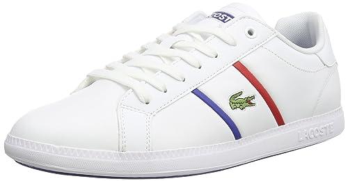 Lacoste Graduate EVO TCL - Zapatilla Deportiva de Cuero Hombre, Color Blanco, Talla 44: Amazon.es: Zapatos y complementos
