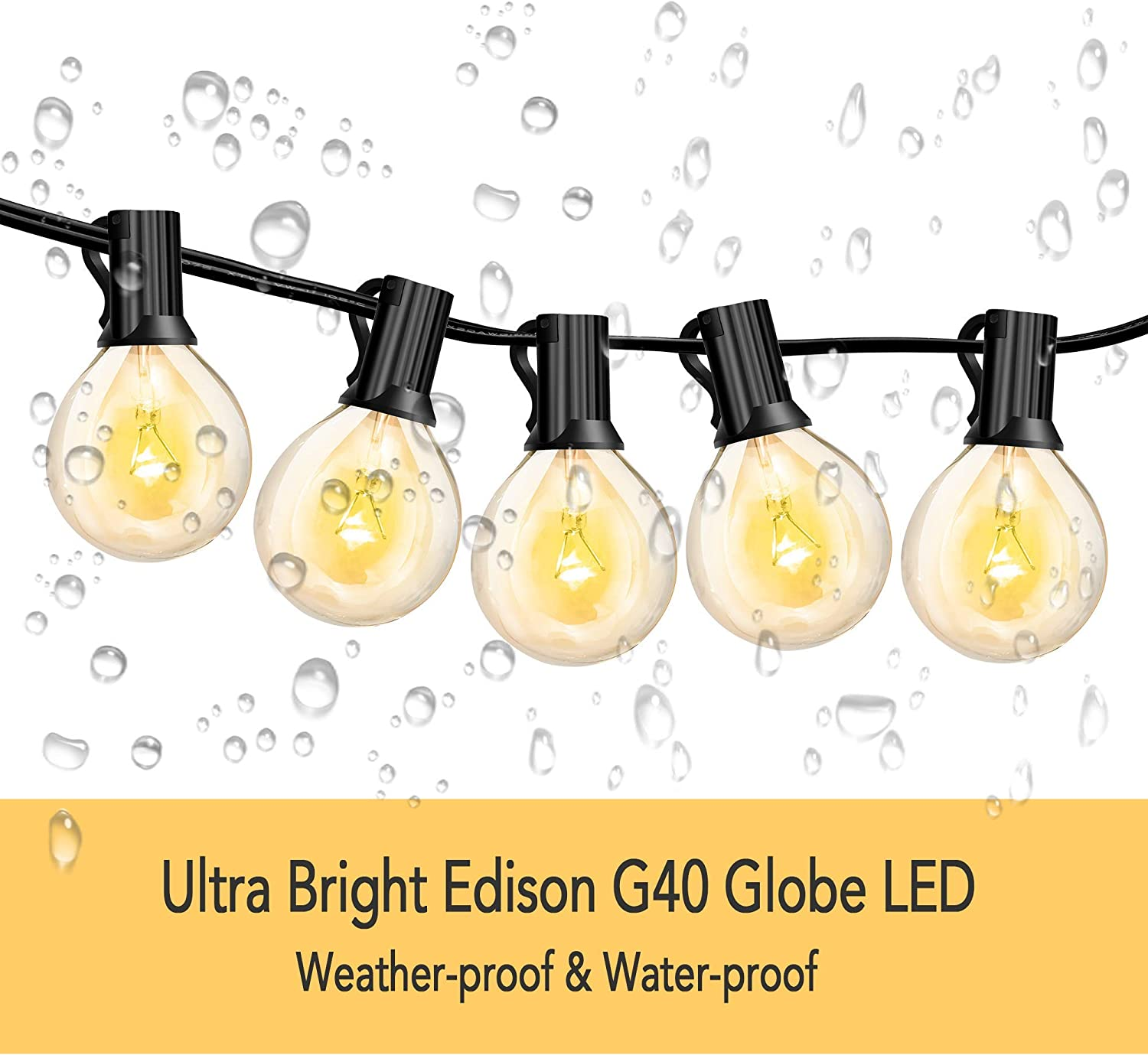 String Lights S14 Solar Waterproof End to End Design Easy Install Indoor outdoor