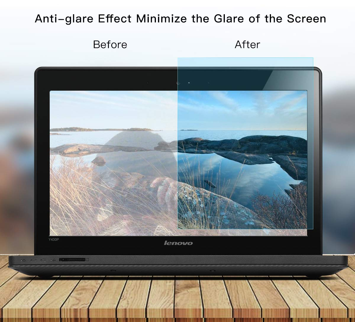 2-Pack 15.6'' Laptop Anti Blue Light Screen Protector, Anti Glare Computer Filter Blue Light Blocking Screen Cover for HP 15.6 Laptop   HP Pavilion 15.6'' BlueLight & Glare Defense Screen Protector by imComor (Image #6)