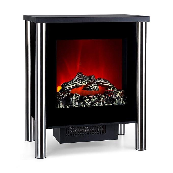 Klarstein Copenhagen • Chimenea eléctrica • Calefacción con termostato • Función de calefacción conmutable • 950 ó 1900 W • Efecto Llama • Frente de Cristal ...
