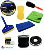 Carsaaz DIY(Do It Yourself) 7 Products Car Cleaning Kit/Car Washing Kit Gift Pack