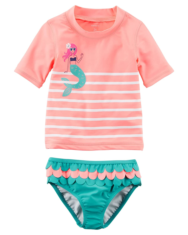 e55d6ac6e Amazon.com: Carter's Girls' Two Piece Swimsuit: Clothing