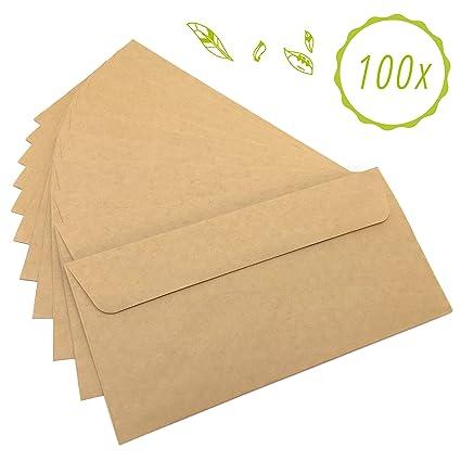 Nature Nerds Briefumschläge 100 Stück Aus Vintage Kraftpapier
