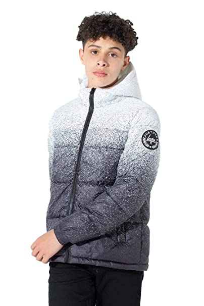 official images the best attitude cost charm hype Speckle Fade Kids Puffer Jacket White/Black: Amazon.co ...