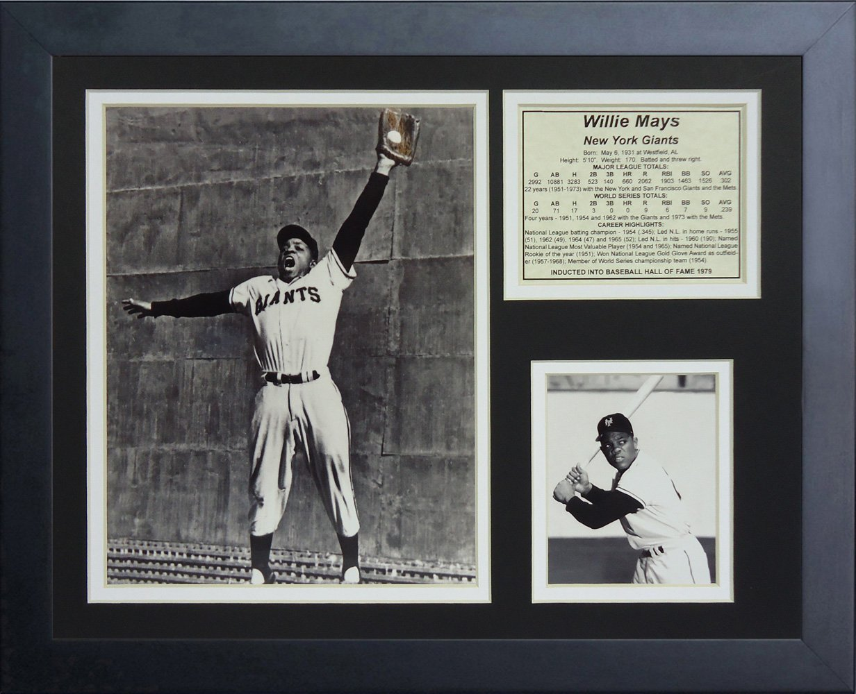 Legends Never Die Willie Mays The Catch Framed Photo Collage, 11 by 14-Inch 11251U