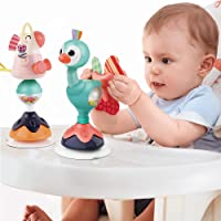 iPlay, iLearn Baby Rattles Set, Infant High Chair Toys W/ Suction Cup, Grab N Spin, Interactive Development Baby Tray…