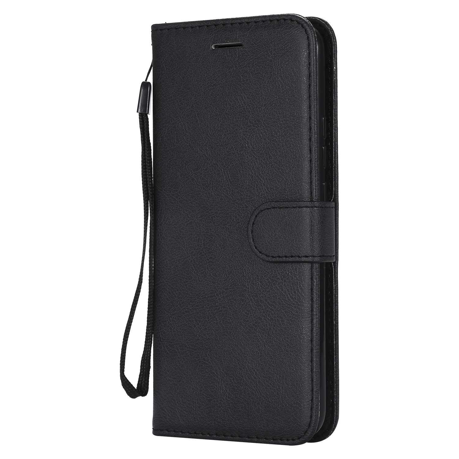 Huawei Mate 20 Lite Wallet Case, UNEXTATI Leather Flip Case with Magnetic Closure and Card Holders, Anti-Shock Bumper Cover for Huawei Mate 20 Lite (Black #2)