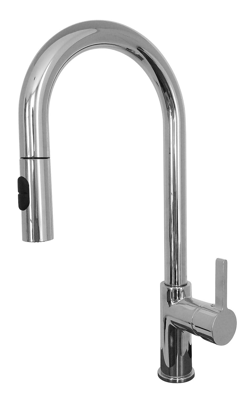 Franke FF20380 Rigo Single Handle Pull-Down Kitchen Faucet, Satin Nickel