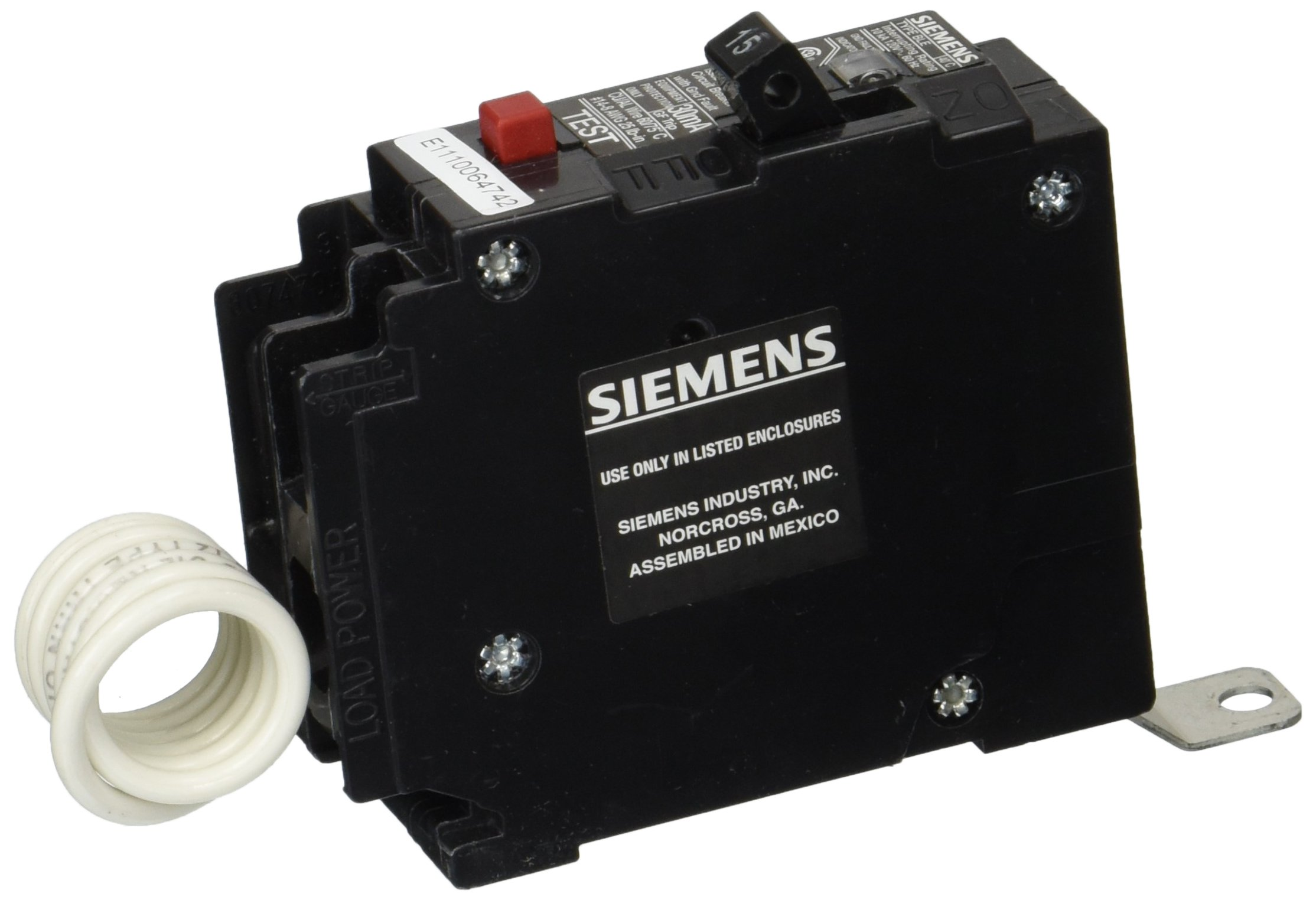 Siemens BE115 15-Amp Single Pole 120-Volt10KAIC Ground Fault Circuit interrupter