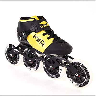 TTYY New Carbon Fiber Inline Speed Skating Shoes Men and Women Roller Skates Single-Row Adult Professional Speed Shoes EU44: Home & Kitchen