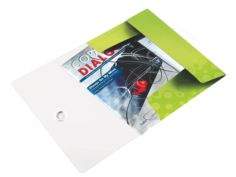 WOW Chiusura a elastico 45990062 Formato A4 Polipropilene Capacit/à 150 fogli Leitz Cartella a 3 lembi Viola//Bianco