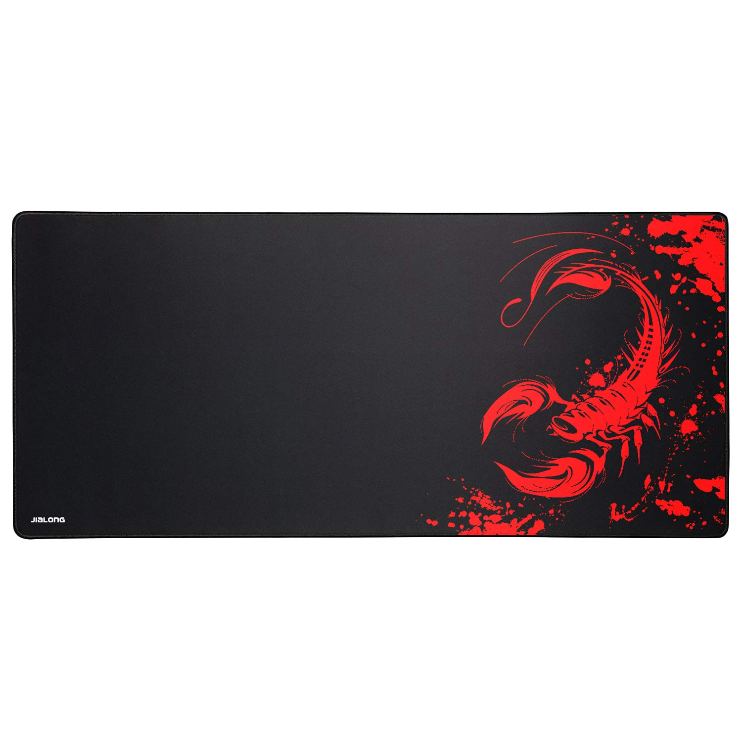 JIALONG Speed Gaming Mouse Pad Large XXL (900x400x3mm) Thick Extended Mousepad Desk Mat with Smooth Cloth Surface, Improved Precision and Speed Designed for Gamer, Office & Home