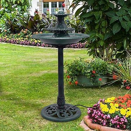 Apontus 3 Tier Fountain Garden Decor Pedestal Outdoor Bird Bath Water Fountain W/Pump