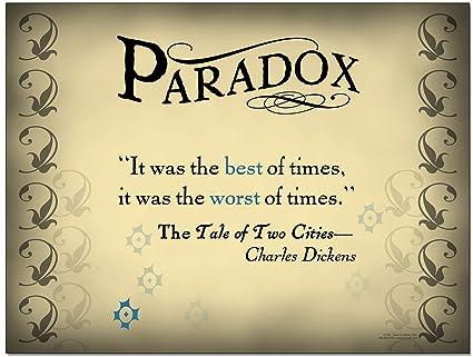 Amazon Literary Tools Paradox English Literature Poster