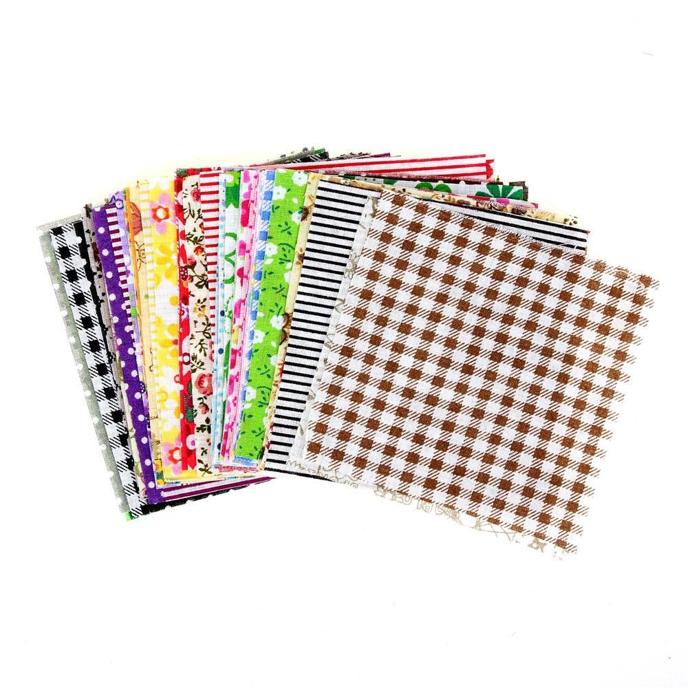 EORTA 60 Pieces Square Cotton Fabric Patchwork Cloth Bundles Patchwork Floral Printed Quilting Pattern Sets for Handmade DIY Craft Sewing Embellishment Scrapbooking, 10 cm*10 cm