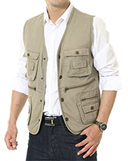 Mens Multi Pocket Lightweight Safari Utility Fishing Photography Vest